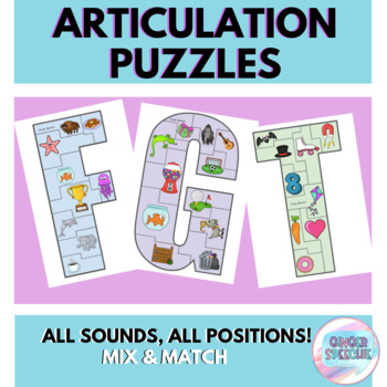 Articulation Puzzles | All Sounds, All Positions!