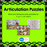 Articulation Puzzles - Word and Sentence level for k, g, f, sh, l ,s