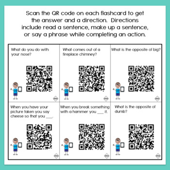 Articulation QR Code Cards - CH, L, S, SH, TH, L/S/R Blends