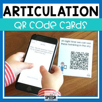 Articulation QR Code Cards - CH, L, S, SH, TH