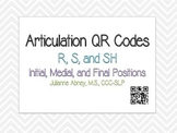 Articulation QR Code Cards-R, S, and SH