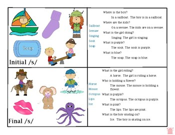 Articulation Question Cards for Phonological Processes