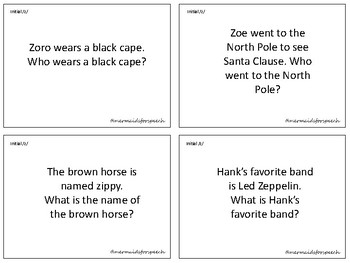 Articulation Question Cards s and z