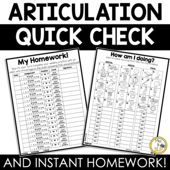 Articulation Quick Check and Insta-Homework