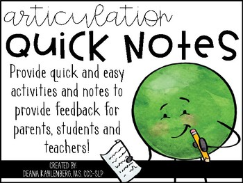 Articulation Quick Notes