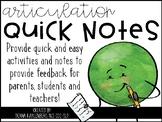 Articulation Quick Notes