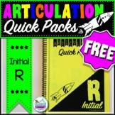 Articulation Quick Packs FREEBIE: Initial R