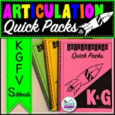 Articulation Quick Packs: K, G, F, V, & S Blends