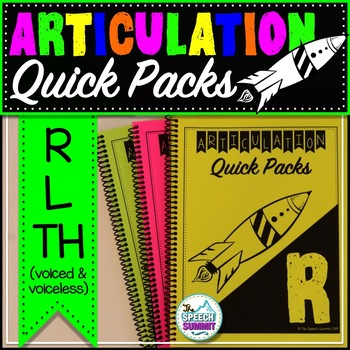 Articulation Quick Packs: R, L, & TH
