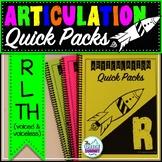 Articulation Quick Packs: R, L, & TH