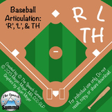 Articulation R, L, TH- Baseball Game Bundle