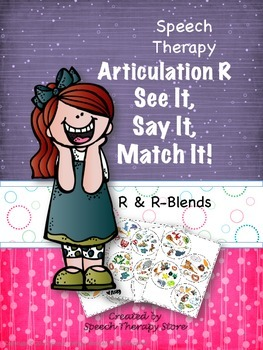 Speech Therapy Articulation R & R Blends: See It, Say It, Match It Game