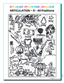 Articulation - R sound all positions- Coloring Sheet - Phonology