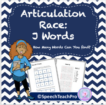 Articulation: Race With J Words