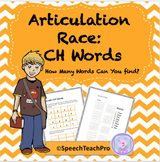 Articulation: Race with CH Words