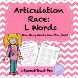 Articulation: Race with L Words
