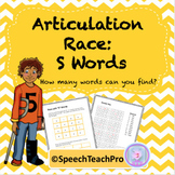 Articulation: Race with S Words