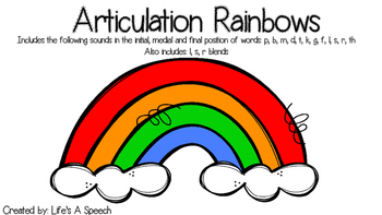 Articulation Rainbows