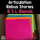 Articulation Rebus Stories Blends (R, S, & L Blends) Print and Go #hotwinter