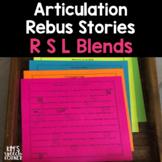 Articulation Rebus Stories Blends (R, S, & L Blends) Print and Go - No Prep