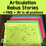 Articulation Activities - Rebus Stories - Free Sample - Initial R - Print and Go