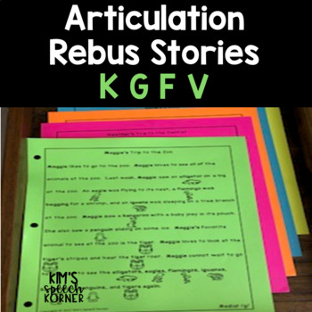 Articulation Activities - Rebus Stories - K, G, F, and V #2sale