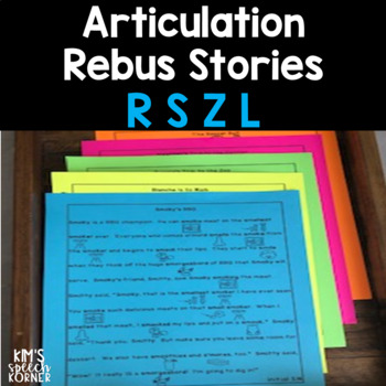 Articulation Rebus Stories - R, S, Z, and L