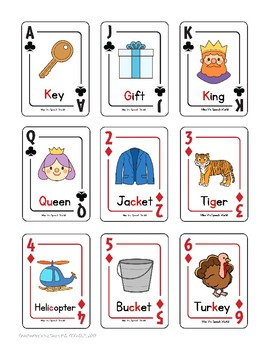 Articulation Regular Card Game for /k/ and /g/ Speech Therapy