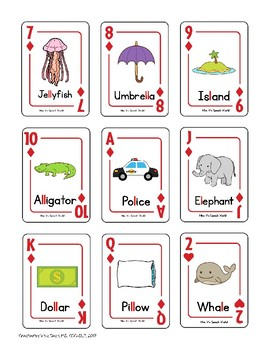 Articulation Regular Card Game for /l/ and /l/-blends Speech Therapy