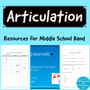 Articulation Resources for Middle School Band