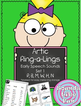 Articulation Ring-a-Lings Early Sounds Set 1: P, B, M, W, H, N