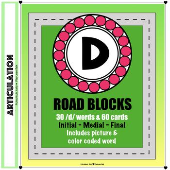 "Articulation ""Road Blocks"" /d/ Speech Therapy"