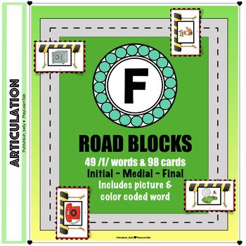 "Articulation ""Road Blocks"" /f/ Speech Therapy"