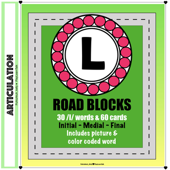 """Articulation """"Road Blocks"""" /l/ Speech Therapy"""