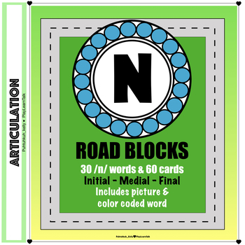 """Articulation """"Road Blocks"""" /n/ Speech Therapy"""