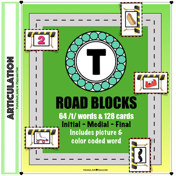 """Articulation """"Road Blocks"""" /t/ Speech Therapy"""