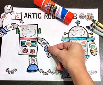 Articulation Robot Lab! Speech Therapy Craft Activity
