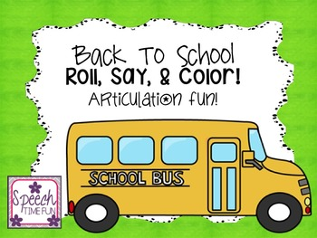 Articulation Roll Say and Color BUNDLE