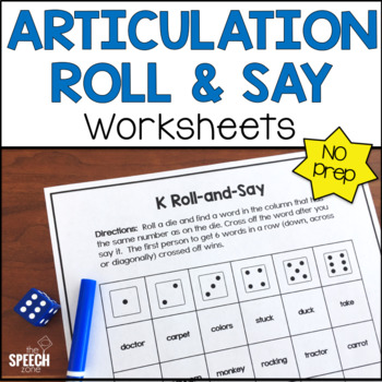 Articulation Roll & Say Worksheets