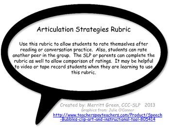 Articulation Rubric