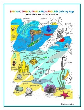 Articulation - S Initial Sound - Coloring Sheet - Phonology