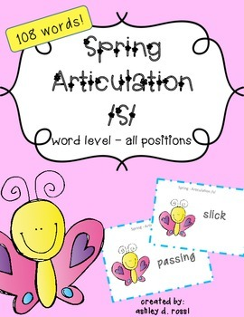Articulation /S/: Spring Game for Speech Therapy