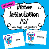 Articulation /S/: Winter Game for Speech Therapy