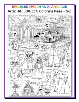 Articulation - S all positions - HALLOWEEN SPECIAL - Coloring Page