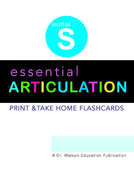 Articulation S and S Blends Flashcards