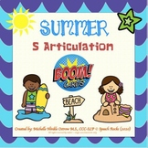 Articulation /S/ boom cards - Summer themed