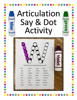 Articulation Say & Dot Activity