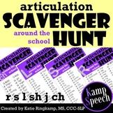Articulation Scavenger Hunt: Around the School