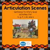 Articulation Scenes- Sound loaded Scenes for sentences and generalisation.
