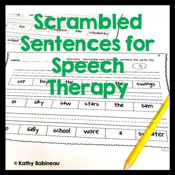 Articulation Scrambled Sentences No Prep Independent Work ...